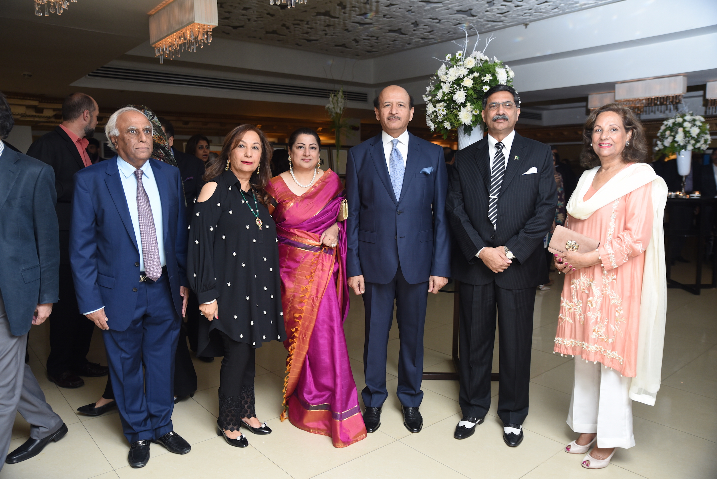 Dr Amjad, Mrs Amjad, Romana and her husband General (retd) Zahid and General Ijaz Chaudhry Secretary Defence production