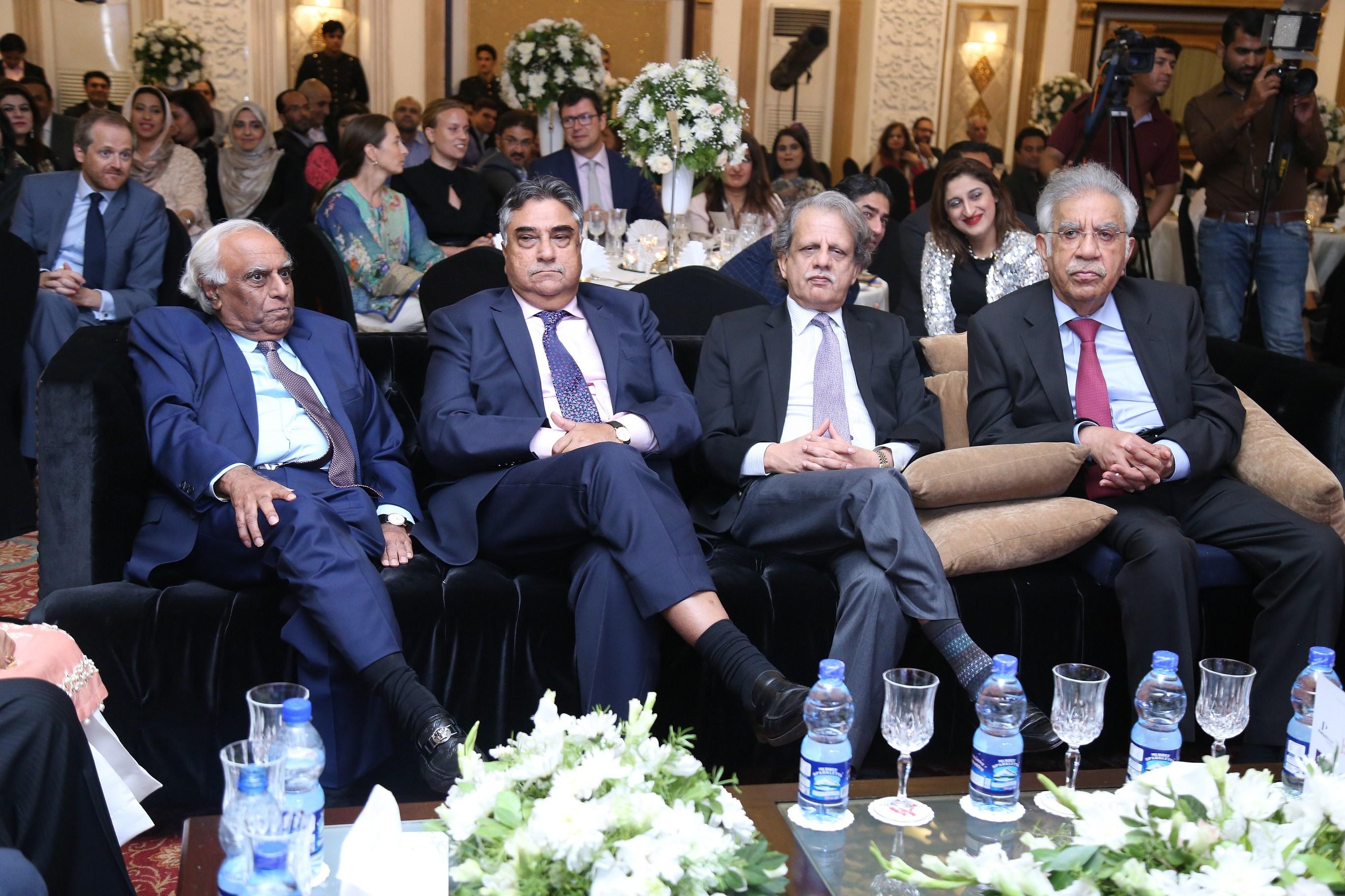 Dr Rashid Amjad, Justice Yawar Yaqub Ali, Azmat Saeed. Mr Sadrudin Hashwani