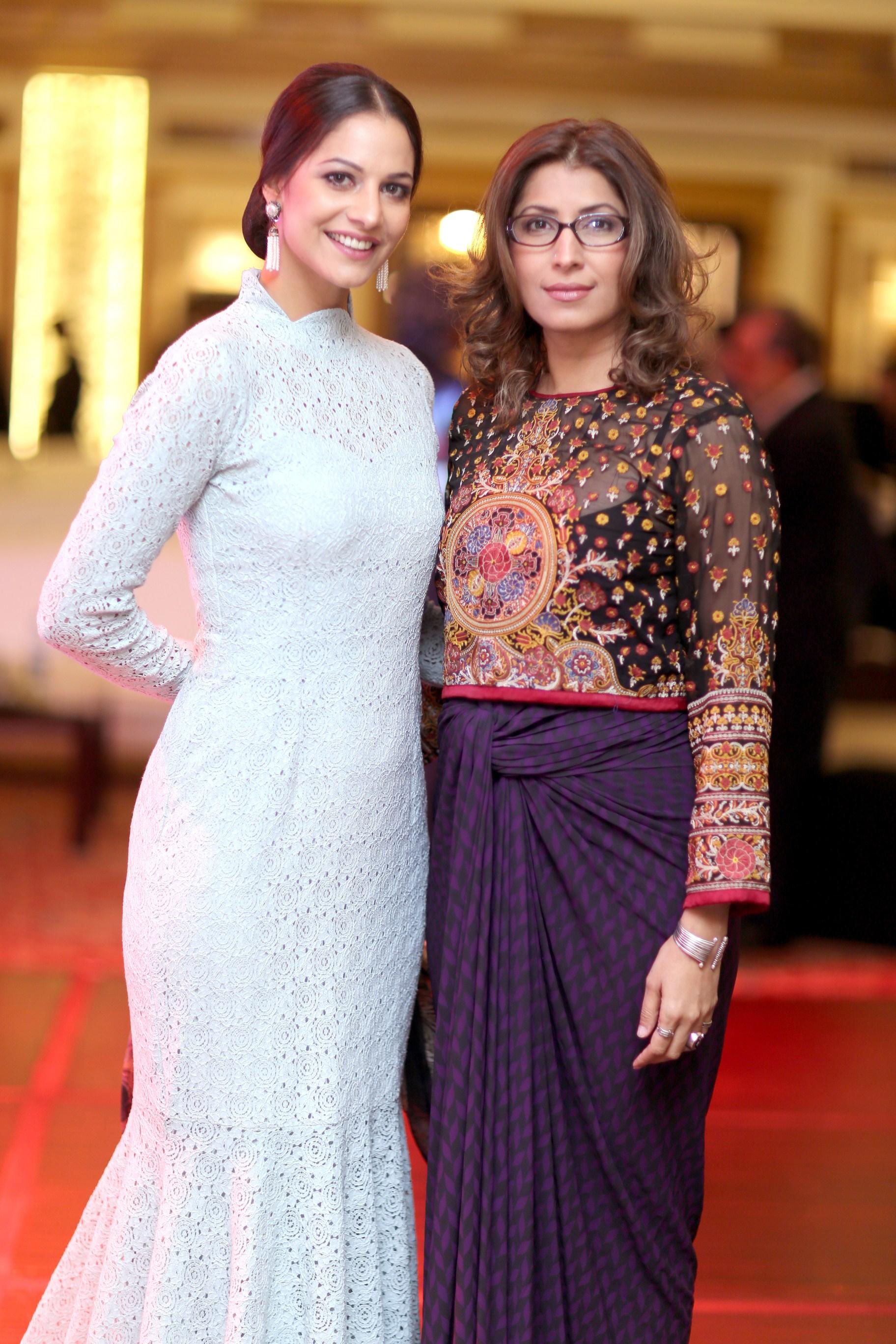 Models - Cybil Chowdhry and Mrs Vaneeza Ahmad